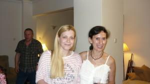 Две от прекрасните дами на партито ни - Дениз Герганова и Николета Парушева